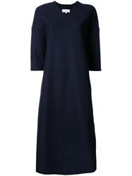 Studio Nicholson V Neck Dress Blue