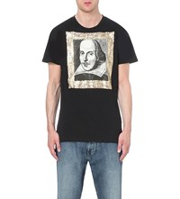 Anglomania Punk Shakespeare Cotton Jersey T Shirt Black