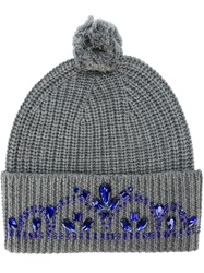 Markus Lupfer Jewelled Tiara Beanie Grey