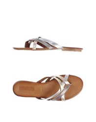 Inuovo Thong Sandals Platinum