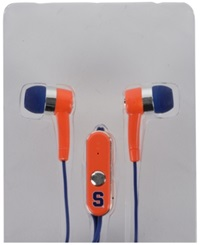 Mizco Syracuse Orange Earbuds Team Color