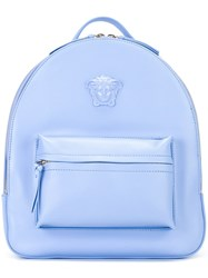 Versace Palazzo Medusa Chain Trim Backpack Blue