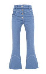 Flow The Label Button Fly Jeans Blue