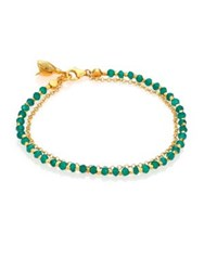 Astley Clarke Biography Green Agate Beaded Flower Charm Friendship Bracelet Gold Lapis Lazuli