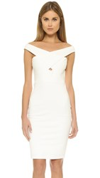 Mason By Michelle Mason Cross Strap Dress Ivory