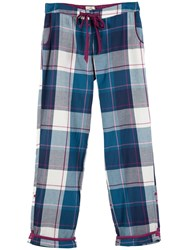 Fat Face Tidworth Check Trousers Navy