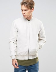 Jack And Jones Faux Suede Bomber Jacket Rainy Day Beige