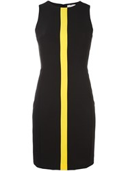 Versace Collection Contrast Stripe Dress Black