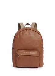 Meilleur Ami Paris 'Sac A Dos' Leather Backpack Brown