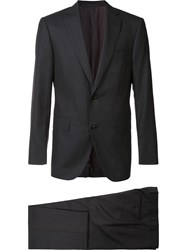 Pal Zileri Light Checked Two Piece Suit Black