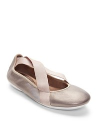 Easy Spirit Yandra Leather Flats Pewter