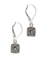 Judith Jack Sterling Silver And Crystal Square Drop Earrings