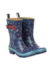 White Stuff Butterfly Mid Height Wellie Navy