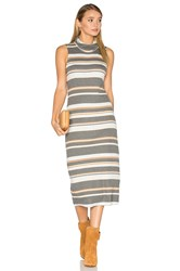 Michael Stars Sleeveless Cowl Neck Midi Dress Gray