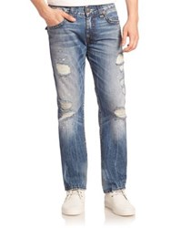 True Religion Ricky Relaxed Straight Leg Jeans Blue Misfit