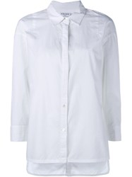 Frame Denim Over Sized Cotton Poplin Shirt White
