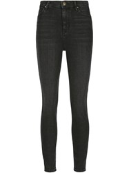 The Great 'The Super High Res' Skinny Jeans Grey