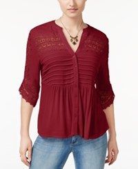 American Rag Lace Babydoll Top Only At Macy's Zinfandel
