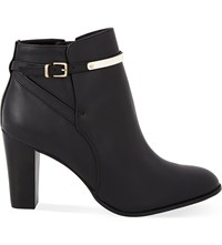Reiss Mia Heeled Leather Ankle Boots Black