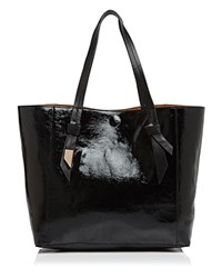 Foley Corinna And Ashlyn Tote Black Patent Honey Brown