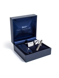 Paul Costelloe Rhodium And Black Enamel Gift Set