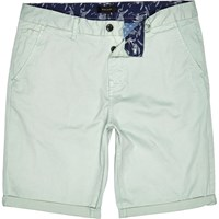 River Island Mens Mint Green Slim Chino Shorts