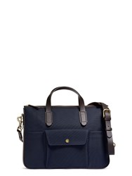 Mismo M S Briefcase Navy Dark Brown Blue