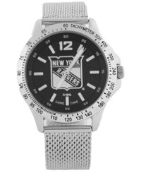 Game Time New York Rangers Cage Series Watch Silver Black