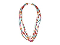 Gypsy Soule Crn13 Pink Orange Turquoise Necklace Red