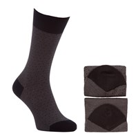 John Lewis Birdseye Egyptian Cotton Socks Pack Of 2 Black