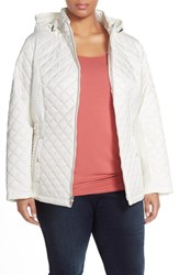 Plus Size Women's Laundry By Design Quilted Jacket With Detachable Hood