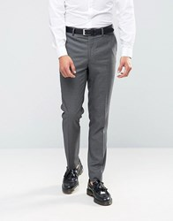 Farah Skinny Dogtooth Suit Trousers Grey