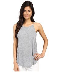 Project Social T Sydney Shirttail Tank Top Light Heather Grey Women's Sleeveless Silver