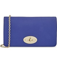 Mulberry Bayswater Leather Clutch Wallet Neon Blue