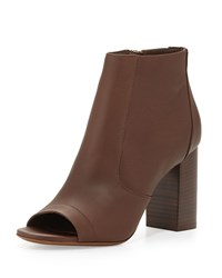 Vince Fionn Open Toe Leather Bootie Chestnut Brown Men's Size 39.5B 9.5B