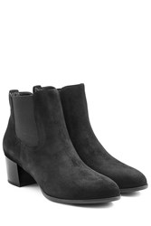 Hogan Suede Ankle Boots Black
