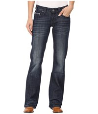 Rock And Roll Cowgirl Riding Bootcut In Dark Wash W7 8466 Dark Wash Women's Jeans Navy
