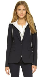 Veronica Beard Classic Jacket With Hoodie Dickey Navy