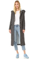 Acne Studios Andela Melange Coat Black White Ice Melange