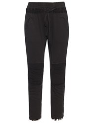 Haider Ackermann Perth Contrast Panel Cotton Blend Track Pants Black