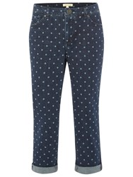 White Stuff Southern Ocean Spot Cropped Jeans Denim