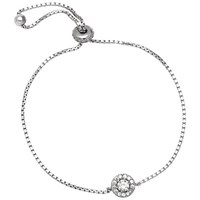 Adele Marie Cubic Zirconia Pave Bracelet Silver
