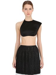 La Perla Asymmetrical One Shoulder Crop Top