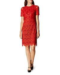 Karen Millen Lace Dress Red Multi