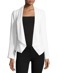 Vince Camuto Crepe Open Front Jacket Lt. Cream