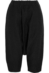 Studio Nicholson Tanaka Cropped Polka Dot Crepe Pants Black
