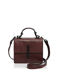 Kendall And Kylie Minato Mini Top Handle Satchel Red Plum Black
