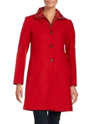 Max Mara Down Puffer Vest And Coat Set Red