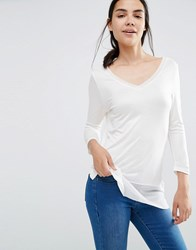 Vero Moda Mesh Insert Top Snow White
