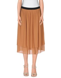 Twin Set Lingerie Skirts Knee Length Skirts Women Tan